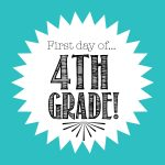 First Day Of 4Th Grade Free Back To School Printable   Freebies2Deals   First Day Of Fourth Grade Free Printable