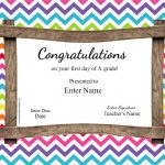 First Day Of School Certificate   Free Printable First Day Of School Certificate