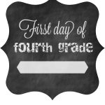 First Day Of School Free Printable Signs 2014 • The Pinning Mama   First Day Of Fourth Grade Free Printable