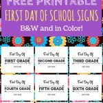 First Day Of School Printable Free 2017 2018 School Year | Print   Free First Day Of School Printables 2018