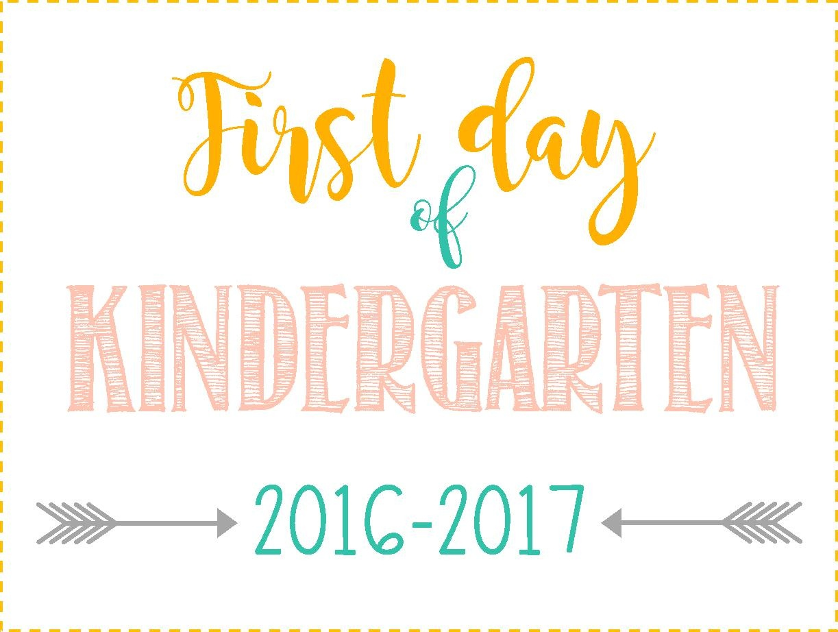 First Day Of School Signs: Free Printables *pre-School- 12Th Grade* - Free Printable First Day Of School Signs