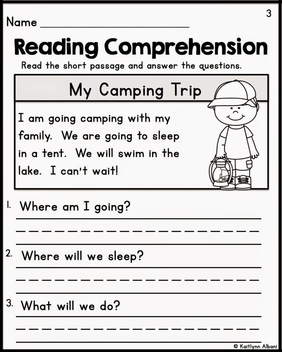 First Grade Common Core Reading Worksheets Free With Plus Spanish - Free Reading Printables For 1St Grade