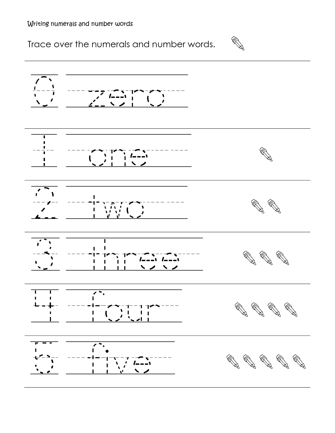 First Grade Math | First Grade Math Worksheet, Writing Numbers And - Free Printable Alphabet Worksheets For Grade 1