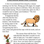 First Grade Reading Comprehension Worksheets | The Lion And The   Free Printable Short Stories For Grade 3