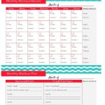 Fitness Tracker Printable | Think Healthy; Be Healthy | Workout   Free Printable Workout Plans