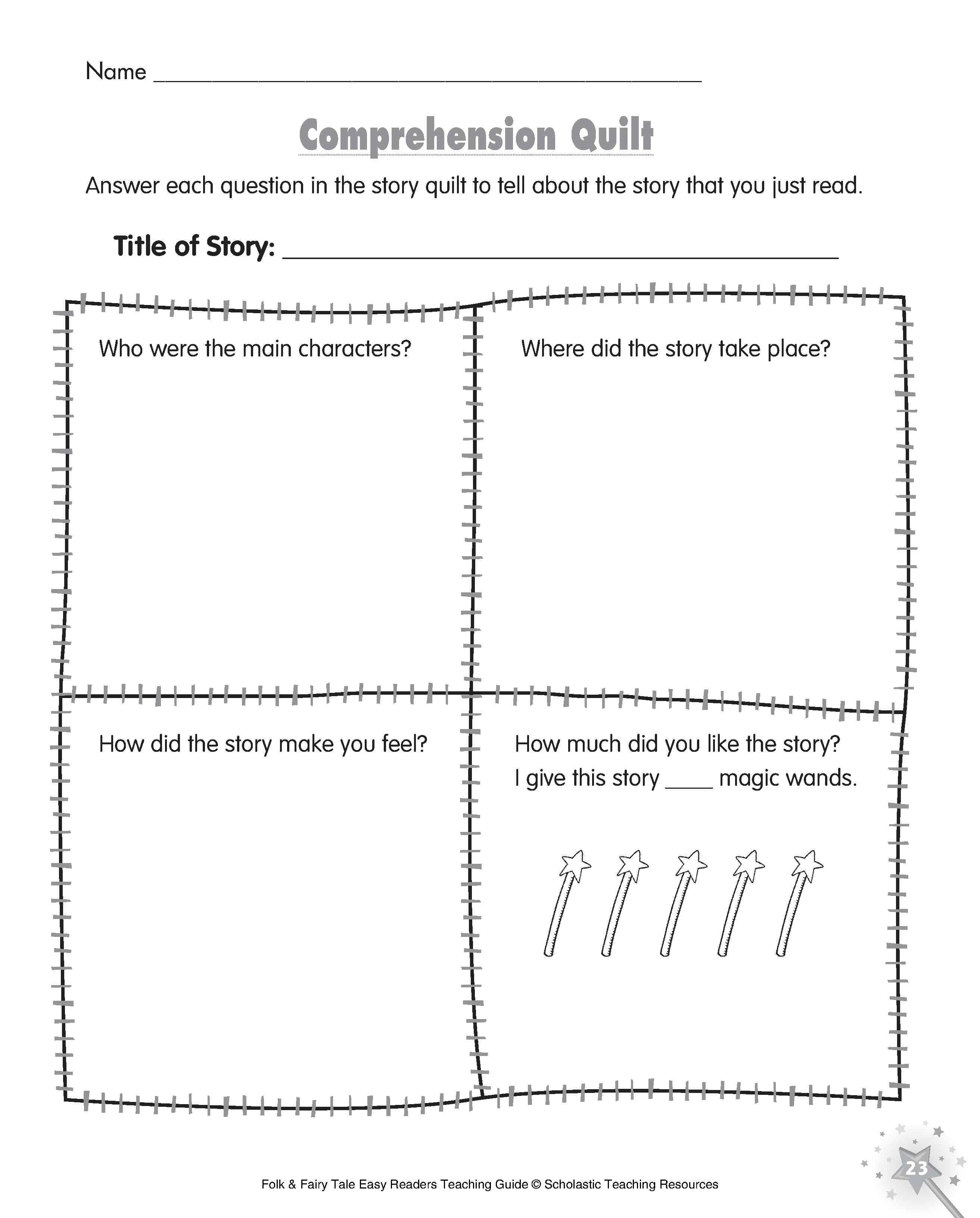 Five Minute Reading Responses | Scholastic - Scholastic Free Printables