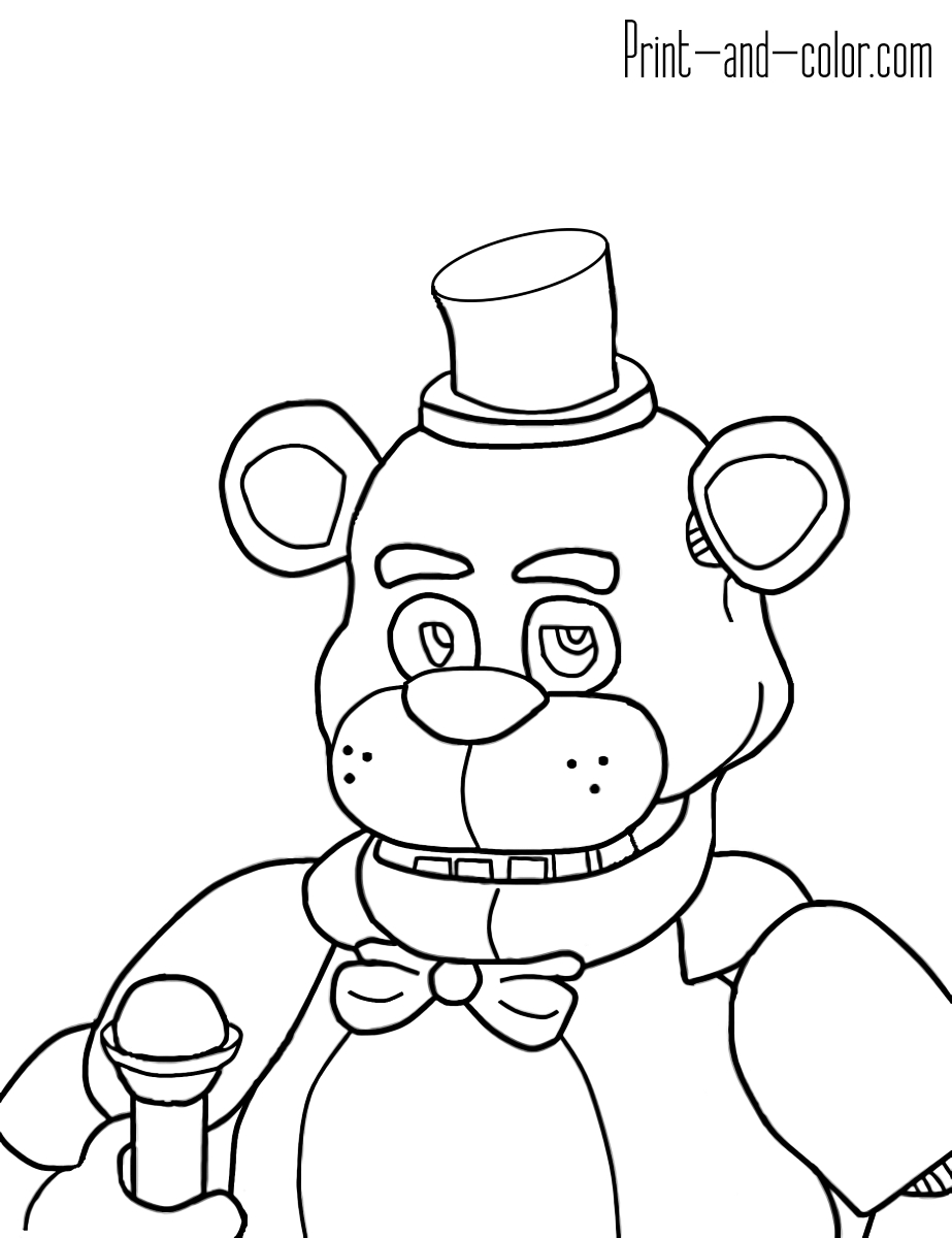 Five Nights At Freddy's Colors 11 | Birthday | Fnaf Coloring Pages - Five Nights At Freddy's Free Printables