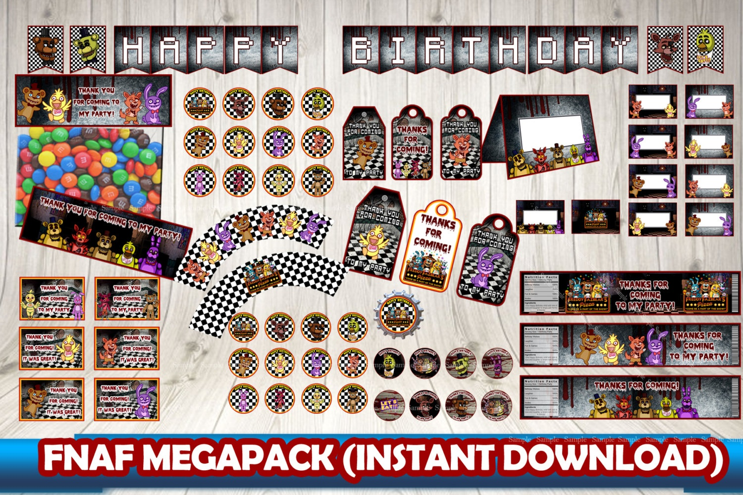 Five Nights At Freddy's Pack, Five Nightsdecorationsleon On - Five Nights At Freddy's Free Printables