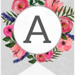 Floral Alphabet Banner Letters Free Printable   Free Printable   Free Printable Alphabet Letters For Banners