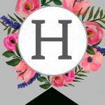 Floral Alphabet Banner Letters Free Printable   Paper Trail Design   Free Printable Alphabet Letters For Banners