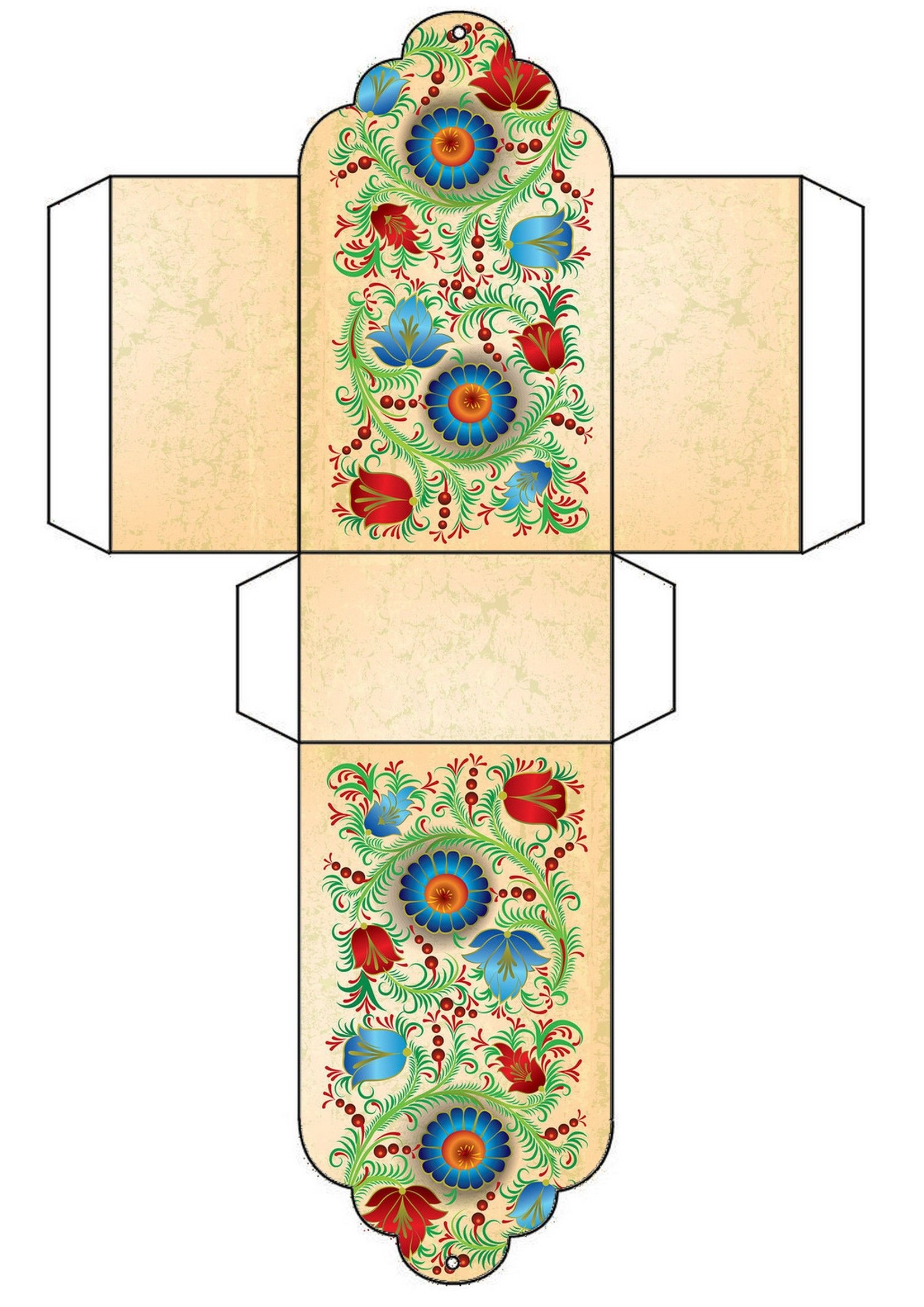 Floral Free Printable Gift Box Template …   Christmas Ideas   Diy G… - Free Printable Gift Boxes