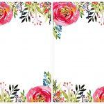 Floral Invitation Template {Free Printable} | #eakertobeamoses   Floral Printables Free