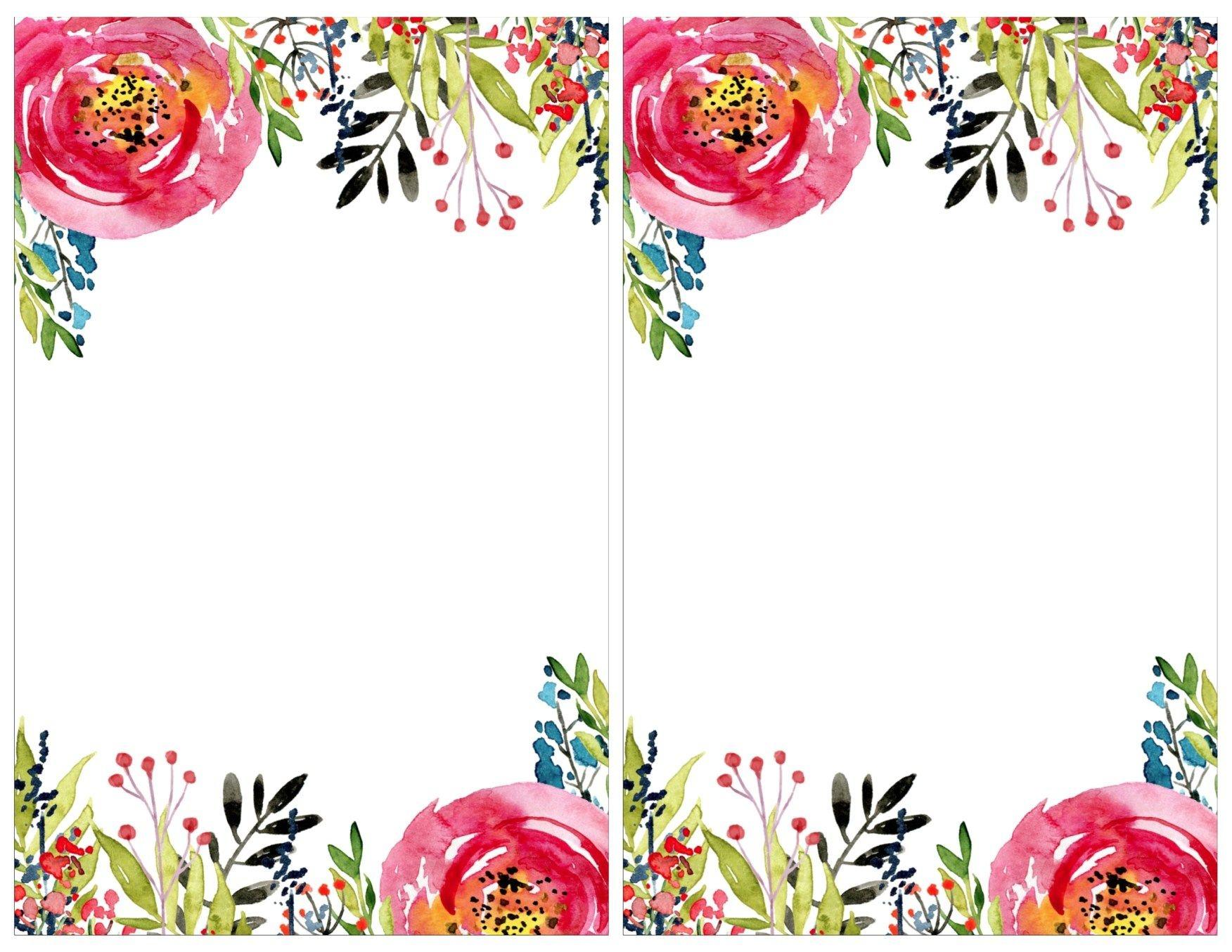 Floral Invitation Template {Free Printable} | #eakertobeamoses - Floral Printables Free