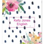 Floral Watercolor Dot Binder Cover   Art Styles   Binder Covers   Free Printable Watercolor Notebook Covers