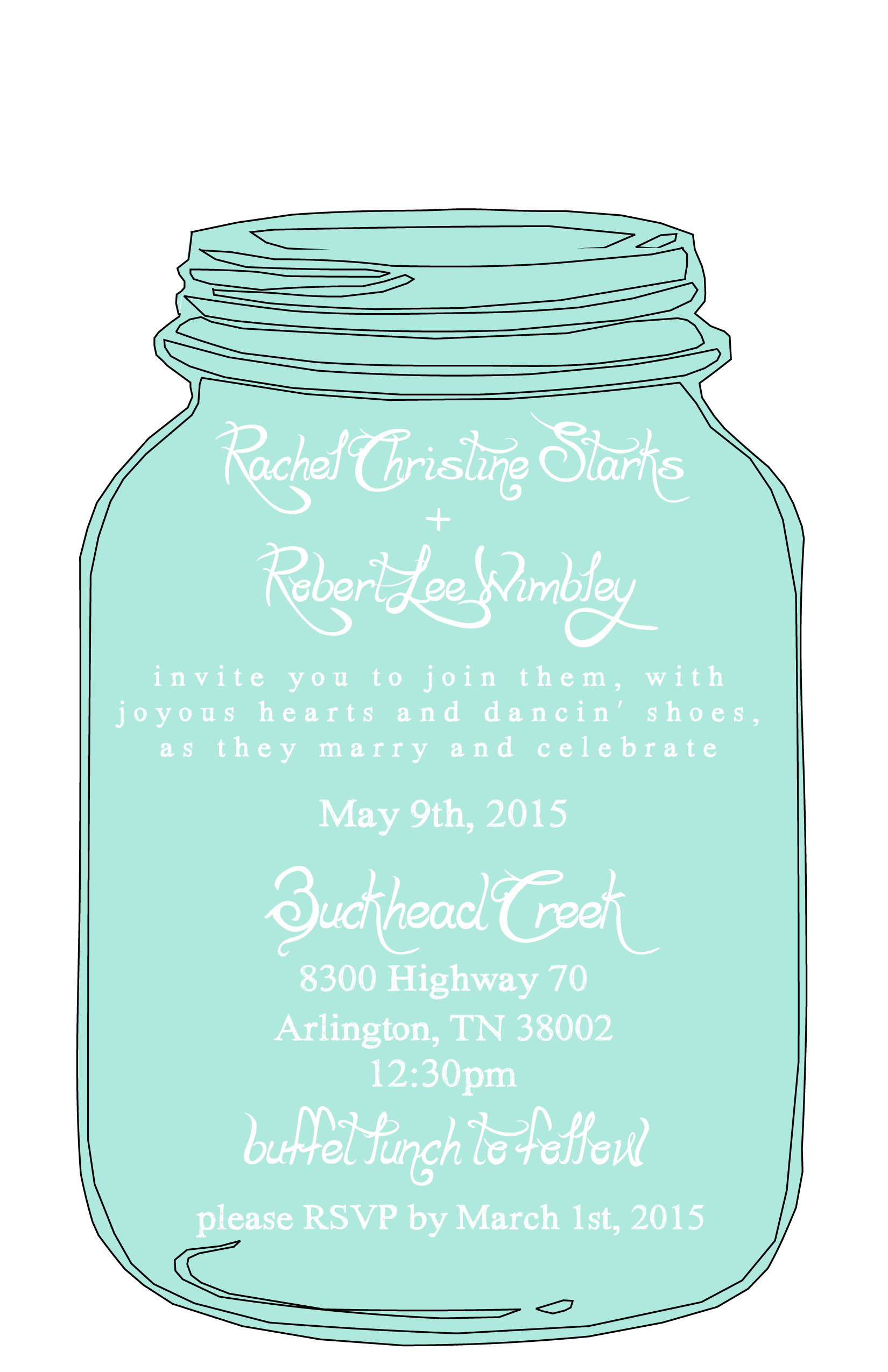 Floral Wreath Free Printable Bridal Shower Invitation Suite - Free Printable Mason Jar Invitation Template