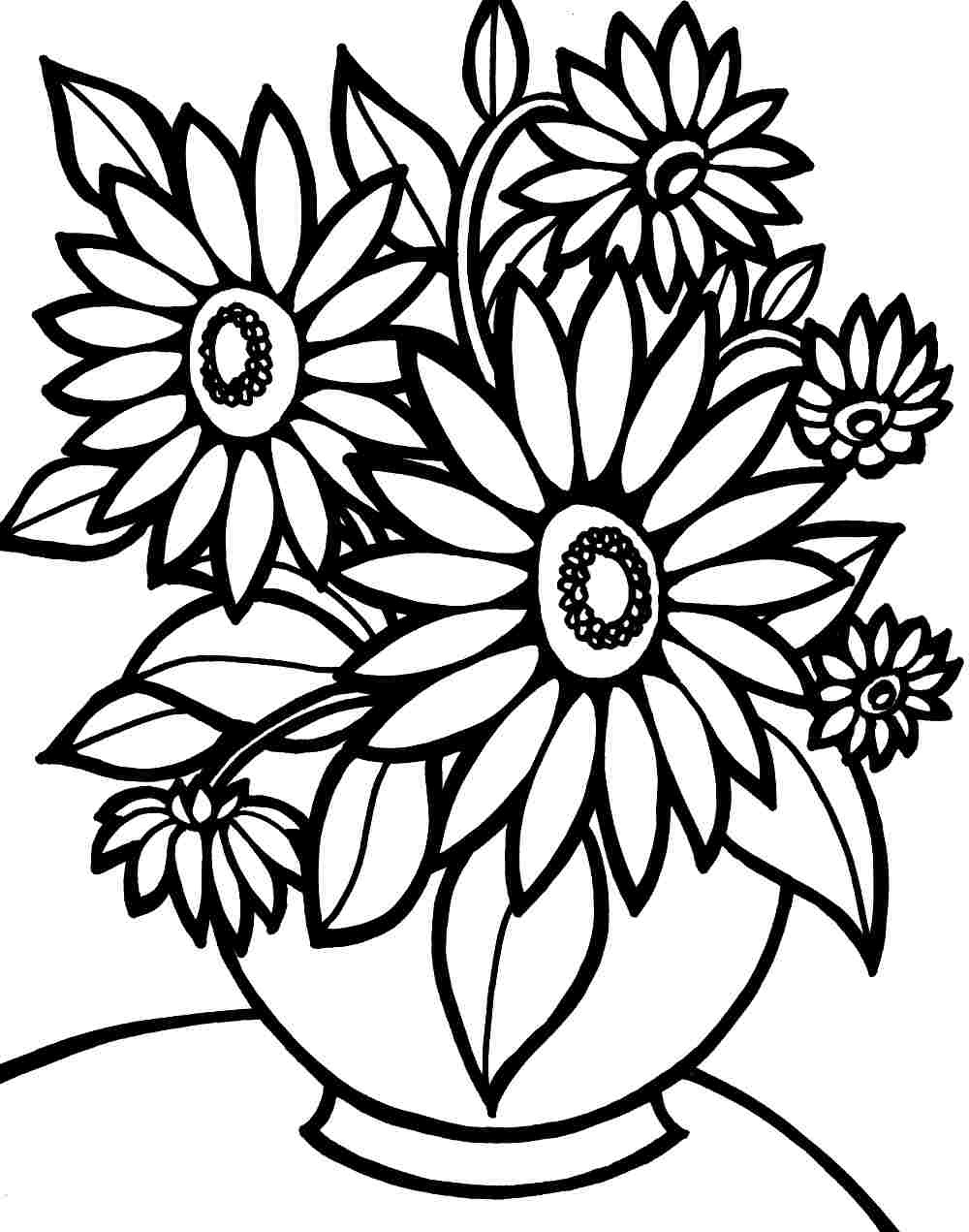 Flower Coloring Pages | Free Download Best Flower Coloring Pages On - Free Printable Flower Coloring Pages For Adults