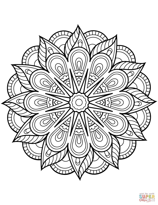 Flower Mandala Coloring Page Free Printable Coloring Pages | Line - Free Printable Mandala Patterns