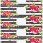 Flower Water Bottle Labels Free Printable – Paper Trail Design   Free Printable Floral Labels