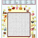 Food And Drinks Wordsearch Worksheet   Free Esl Printable Worksheets   French Word Searches Free Printable