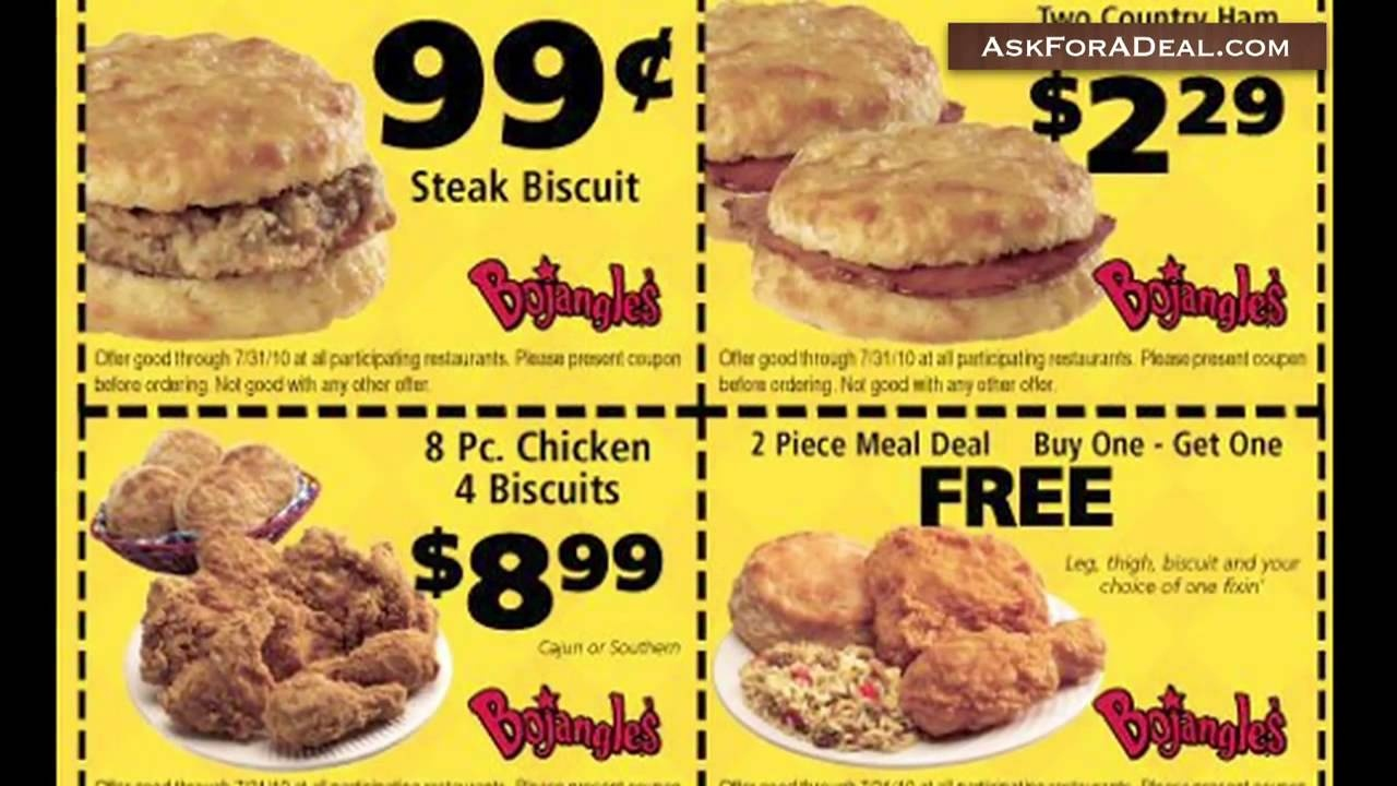 Food Coupons Free Bojangles Printable Coupons Free - Youtube - Free Printable Coupons For Bojangles