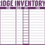 Food Inventory Sheet Printable Acceptable Free Printable Menu   Free Printable Inventory Sheets