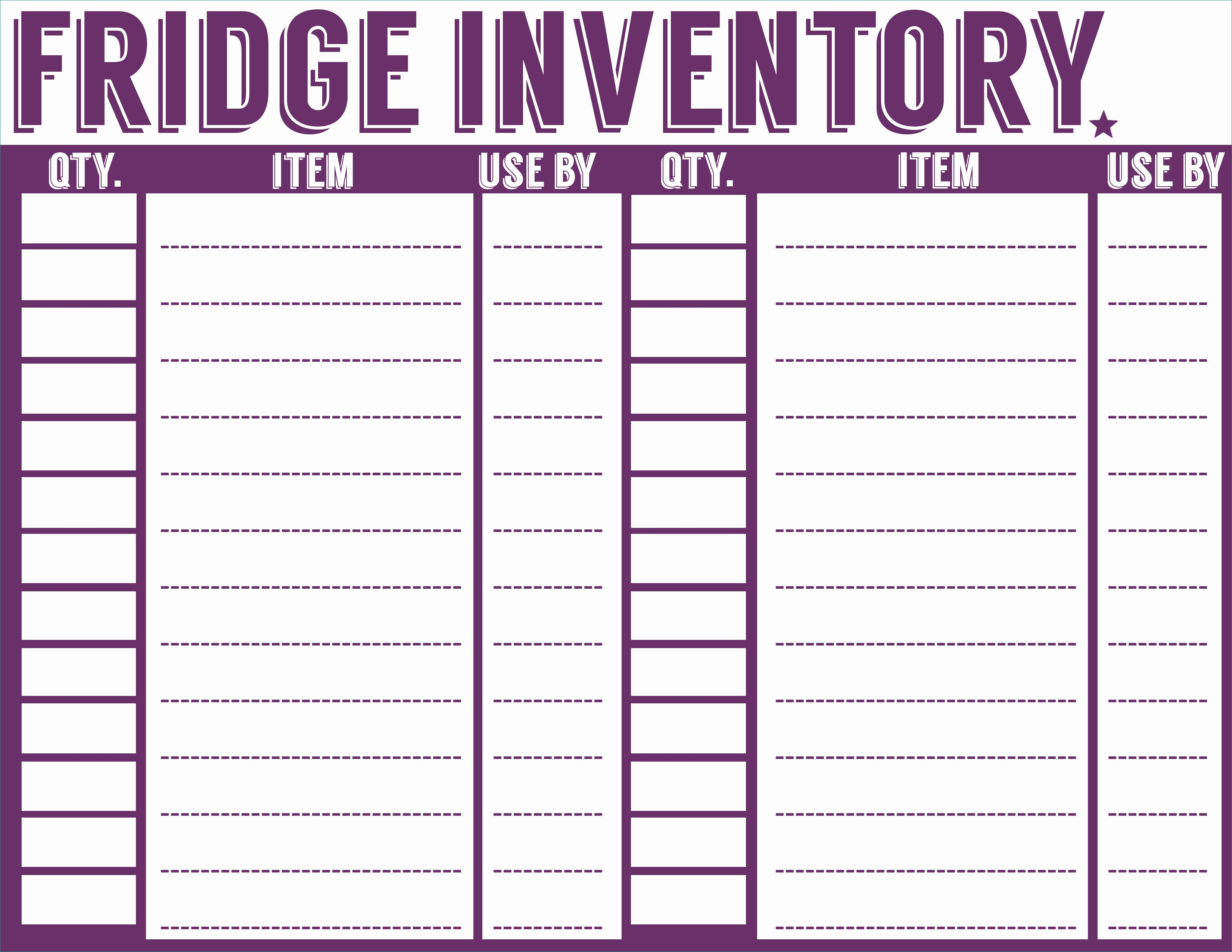 Food Inventory Sheet Printable Acceptable Free Printable Menu - Free Printable Inventory Sheets