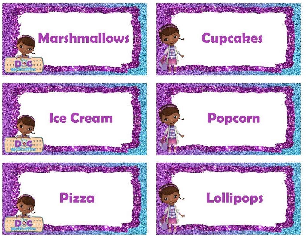 Food Labels | Doc Mcstuffins | Doc Mcstuffins, Doc Mcstuffins - Free Printable Doc Mcstuffins Food Labels