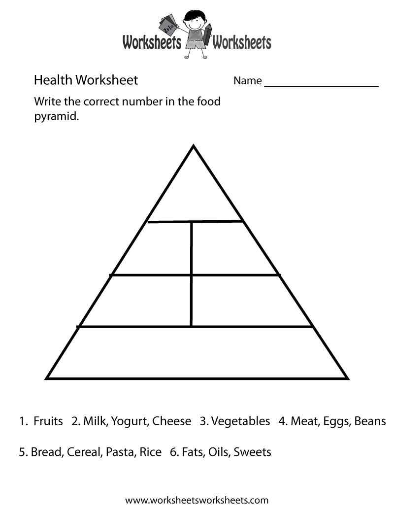 Food Pyramid Health Worksheet Printable   Church   Food Pyramid - Free Printable Food Pyramid