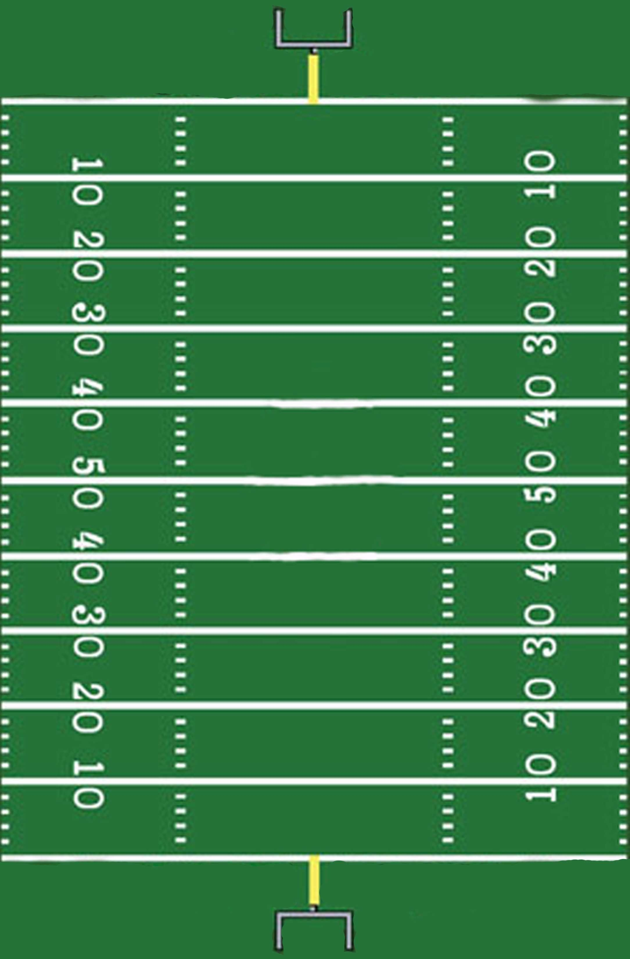 Football Field Template I Made For A Sign | Hunter's 1St Football - Free Printable Football Templates