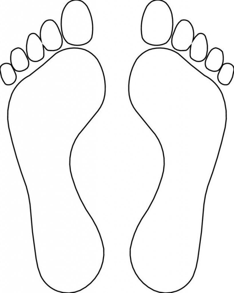 Footprint Template Clipart   Free Download Best Footprint Template - Free Printable Footprints