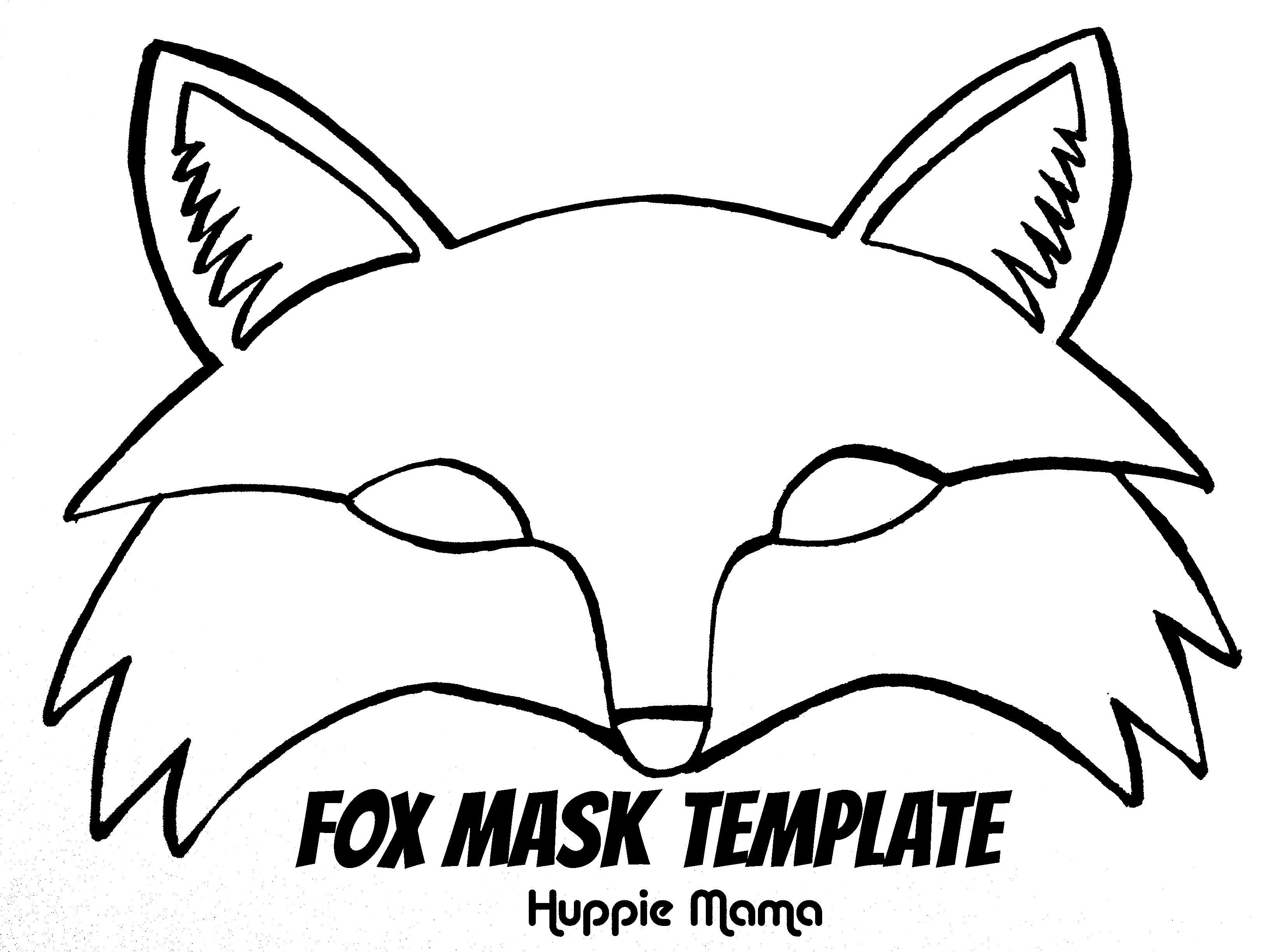 Fox Mask Template | Wood Work | Fox Mask, Fantastic Mr Fox, Mr Fox - Free Printable Fox Mask Template