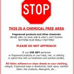 """Fragrance Free Door Signs 