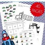 Free 40 Page Preschool Transportation Theme Printables   Free Printable Transportation Worksheets For Kids