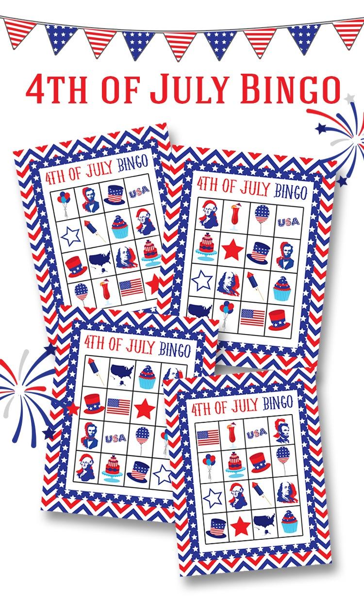 Free 4Th Of July Bingo Printable - Lil' Luna - Free 4Th Of July Printables