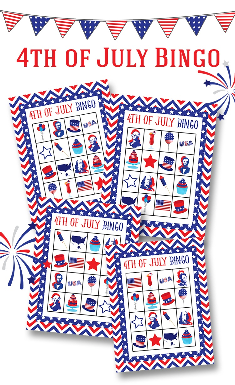 Free 4Th Of July Bingo Printable - Lil' Luna - Free Printable 4Th Of July Pictures