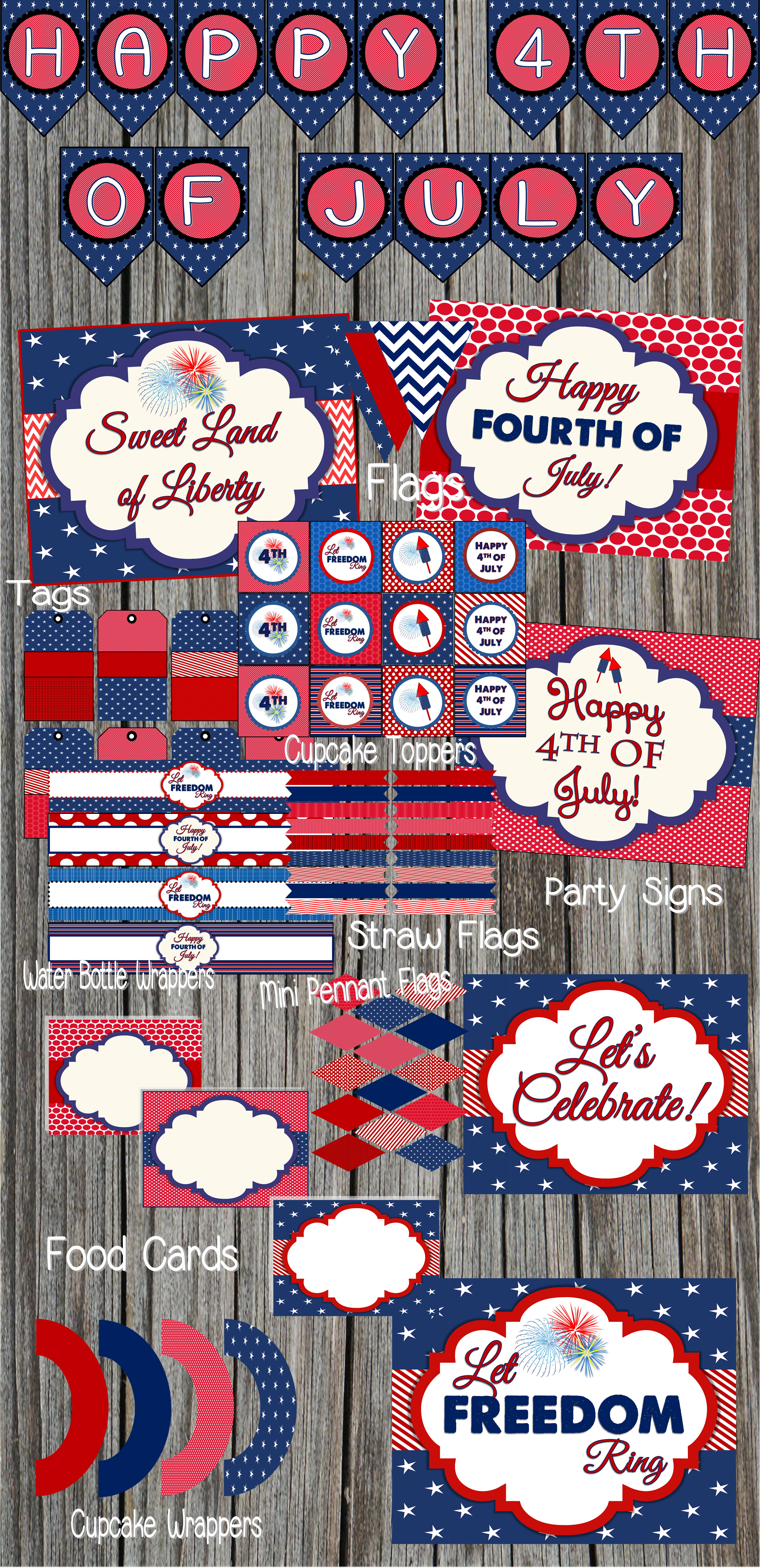 Free 4Th Of July Party Printablesdesignsserendipity | Catch - Free 4Th Of July Printables