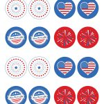 Free 4Th Of July Printable: Cupcake Toppers   | Pin It To Win It   Free 4Th Of July Printables