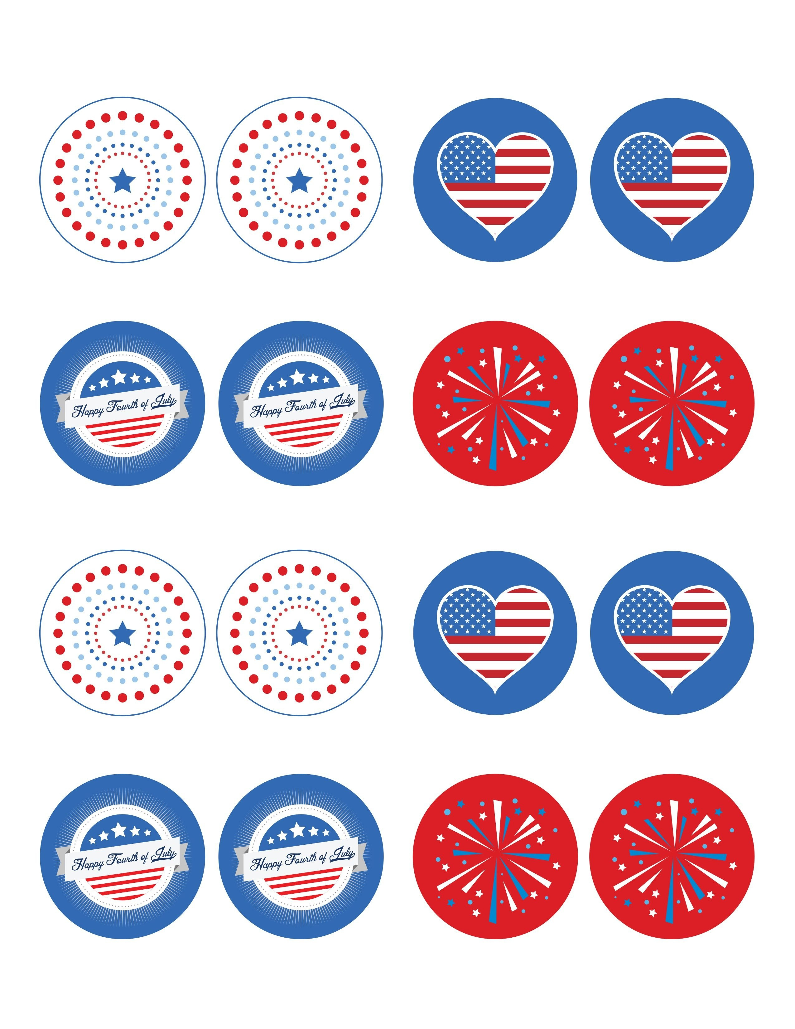 Free 4Th Of July Printable: Cupcake Toppers - | Pin It To Win It - Free 4Th Of July Printables