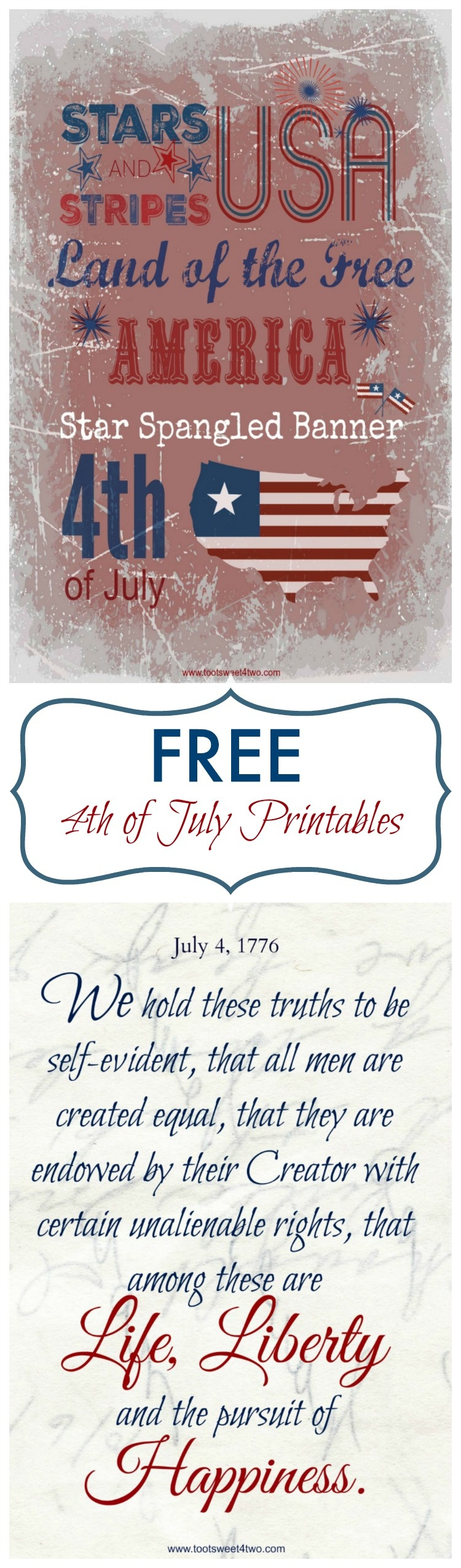 Free 4Th Of July Printables - Toot Sweet 4 Two - Free 4Th Of July Printables