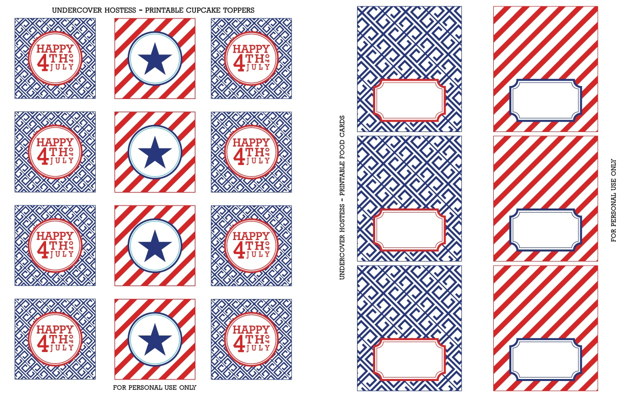 Free 4Th Of July Printables | Undercover Hostess - Free 4Th Of July Printables