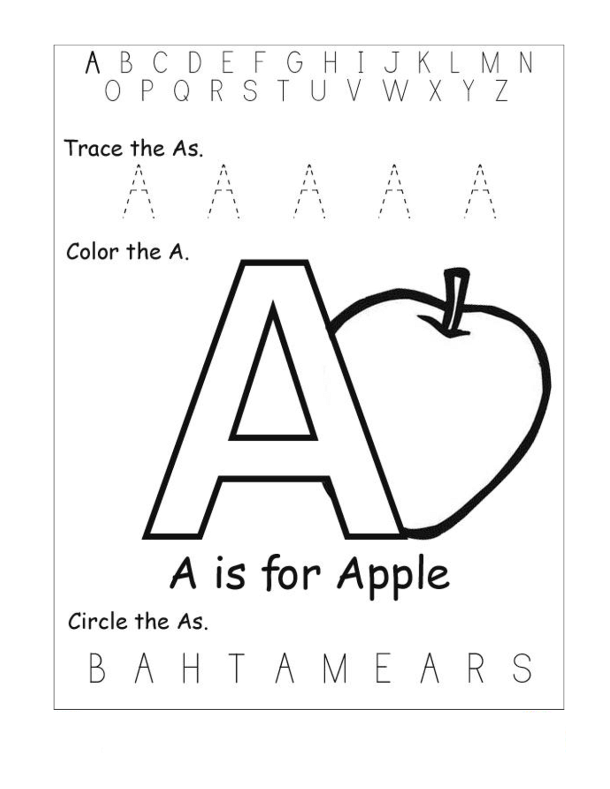 Free Abc Worksheets For Pre K | Activity Shelter - Free Printable Pre K Activities