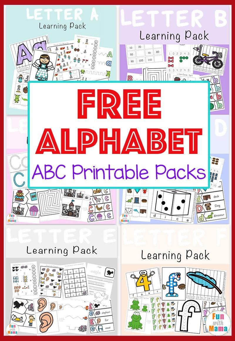 Free Alphabet Abc Printable Packs - Fun With Mama - Free Abc Printables For Kindergarten