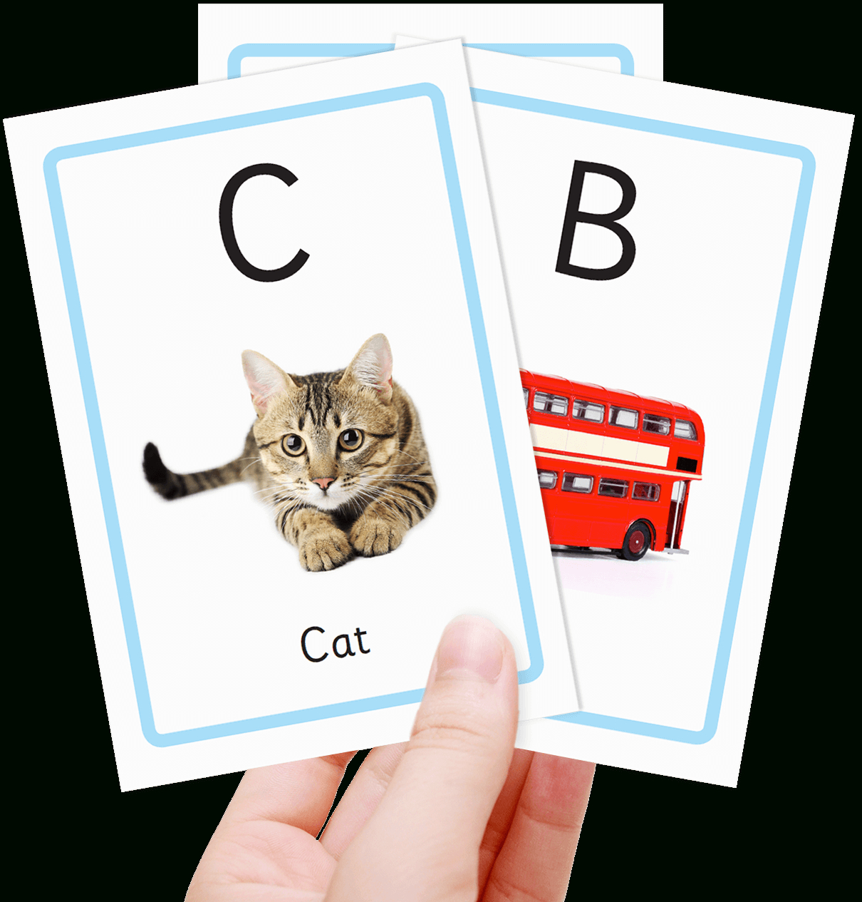 Free Alphabet Flashcards For Kids - Totcards - Free Printable Abc Flashcards
