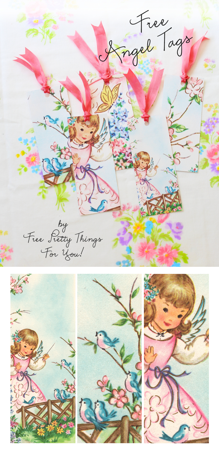 Free Angel Tags! - Free Pretty Things For You - Free Printable Angel Gift Tags