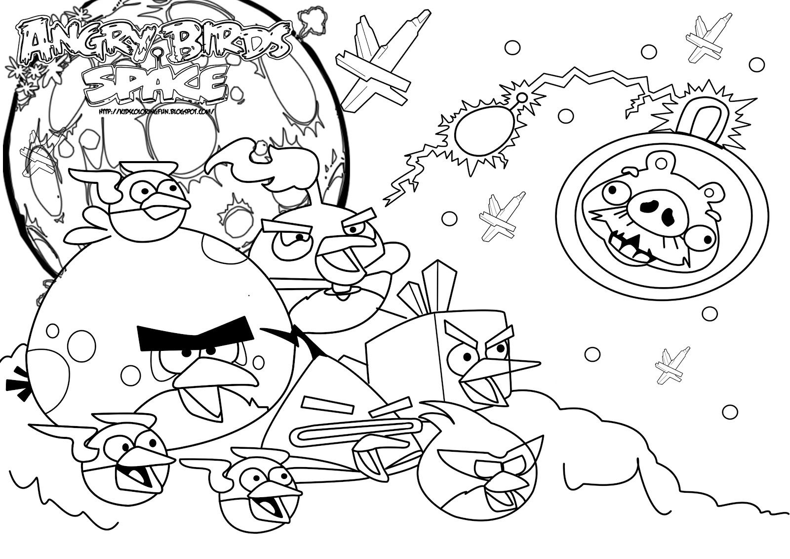 Free Angry Birds Space Coloring Pages | I Need This! | Bird Coloring - Free Printable Angry Birds Space Coloring Pages