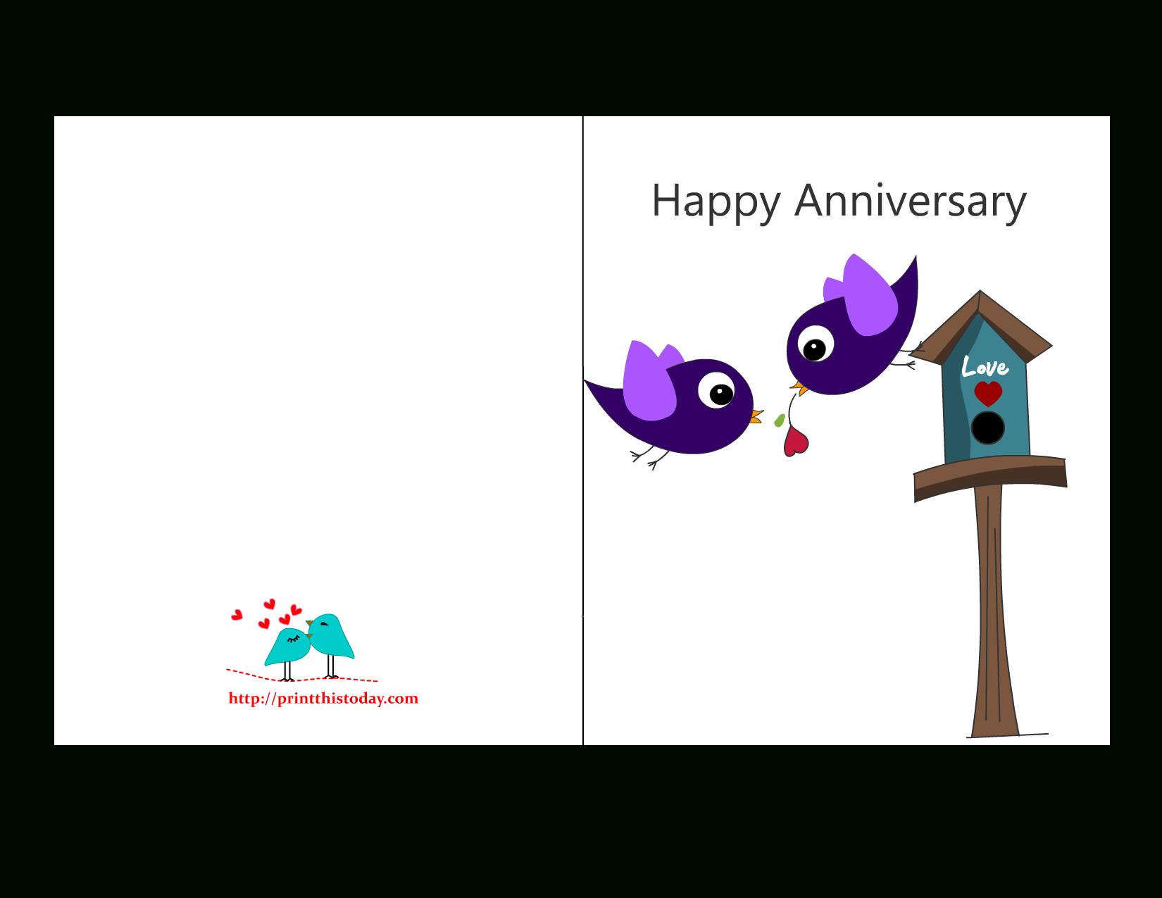 Free Anniversary Cards To Print | Free Printable Anniversary Cards - Free Anniversary Printables