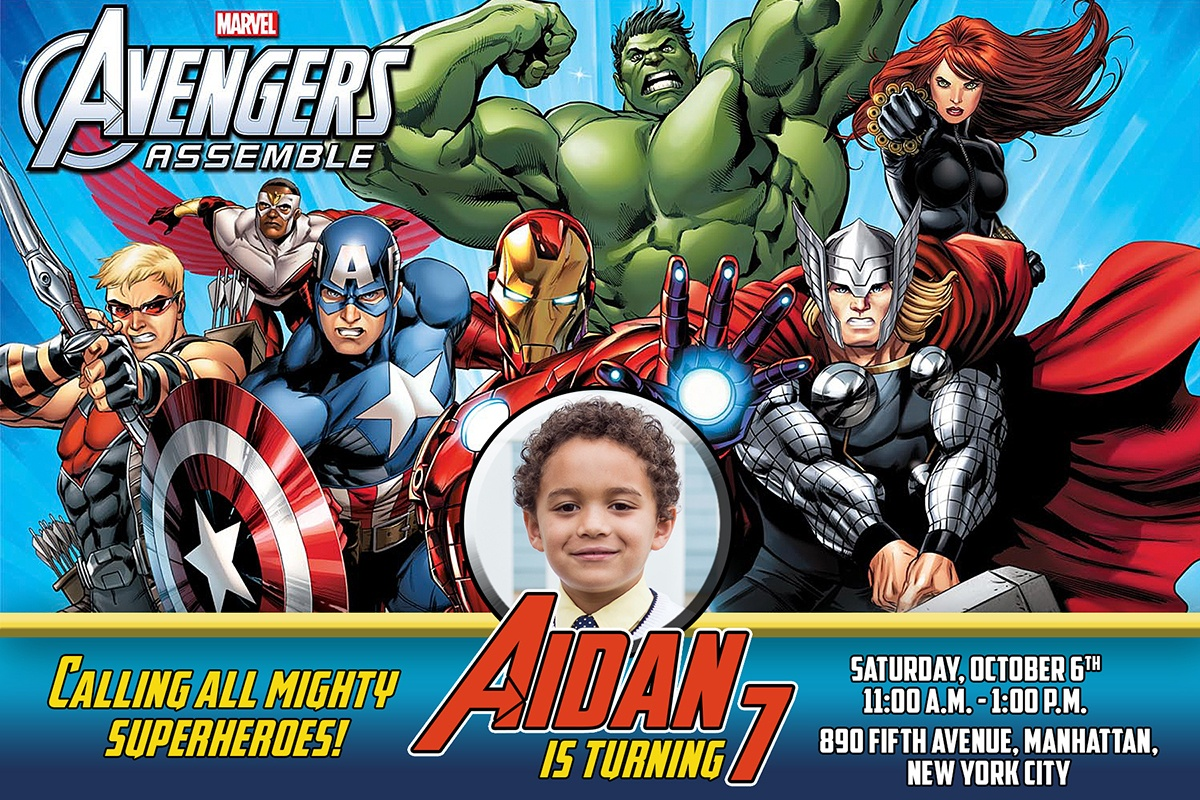 Free Avengers Birthday Invitation | Dioskouri Designs - Avengers Printable Invitations Free