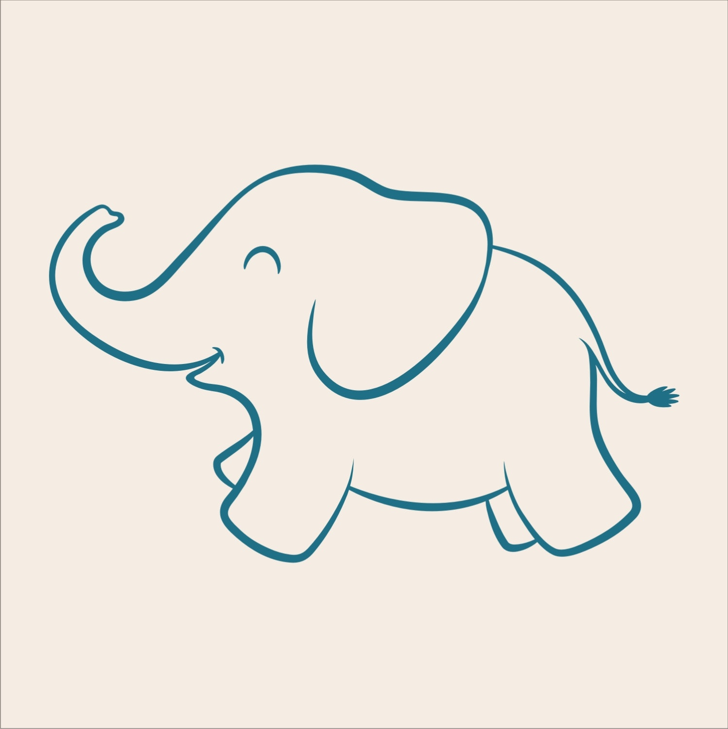 Free Baby Elephant Stencil, Download Free Clip Art, Free Clip Art On - Free Printable Baby Elephant Template