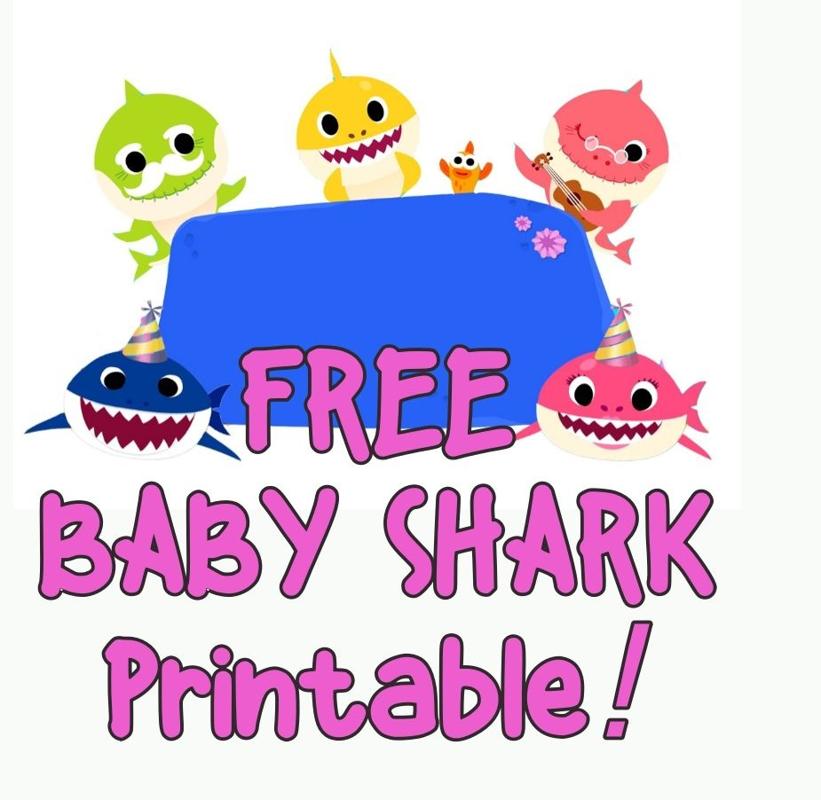 Free Baby Shark Partyprintables! | Baby Shark Party! In 2019 | Baby - Free Baby Shark Printables