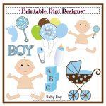 Free Baby Shower Clip Art For Boys – 101 Clip Art   Free Printable Baby Shower Clip Art